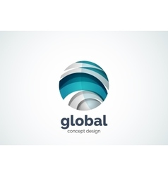 Sphere logo template global or world concept vector image