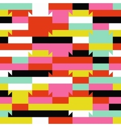 Abstract geometric color blocked pattern vector