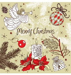 Christmas Pattern Card vector image