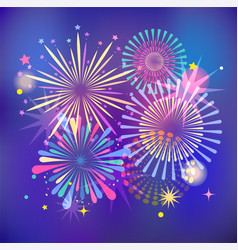 Winner victory fireworks and celebration vector