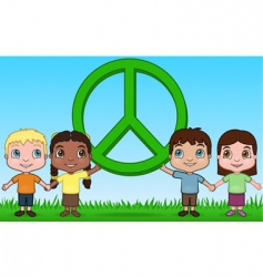 children and peace vector image