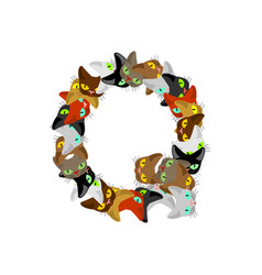 Letter q cat font pet alphabet symbol home animal vector