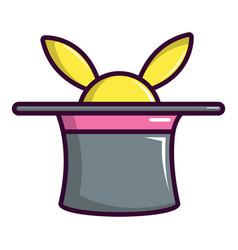 magic hat with rabbit icon cartoon style vector image