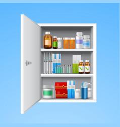 Medicine cabinet realistic vector image