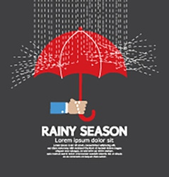 Rainy season graphic vector
