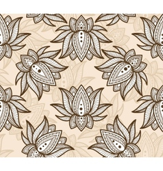 Seamless pattern lotus vector