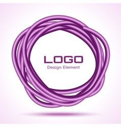 Violet hand drawn thick ware circle vector