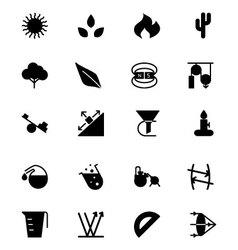 Science solid icons 7 vector