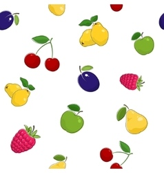 Seamless pattern of fresh fruits vector