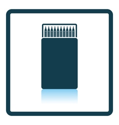 Pencil box icon vector