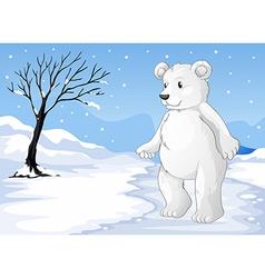 A polar bear freezing vector image vector image