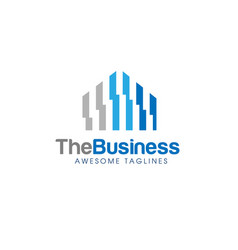abstract real estate logo vector image vector image