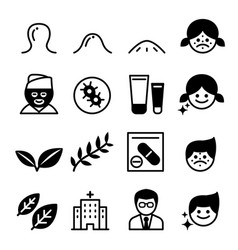 Acne icons vector