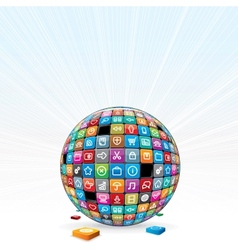 Apps Background Concept vector image vector image