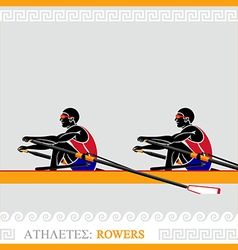 Athlete rowers vector