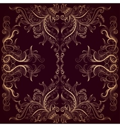 Background with lace hand-drawing ornament on dark vector
