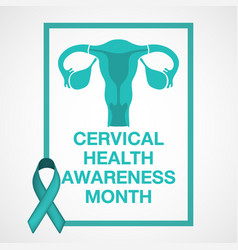 cervical health awareness month logo vector image