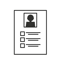 curriculum vitae isolated vector image vector image