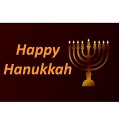 Design style happy hanukkah logotype badge and vector