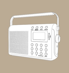 digital radio vector image vector image