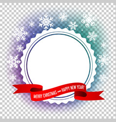 Empty frame design for christmas and new year card vector image