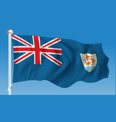 Flag of anguilla vector