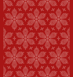 Flourish snowflakes seamless pattern vector