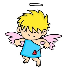 Funny little cupid valentine days vector