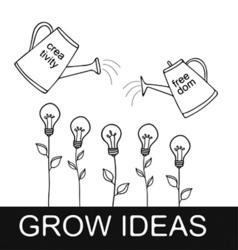Grow Ideas vector image