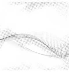 Halftone greyscale swoosh lines and dots vector