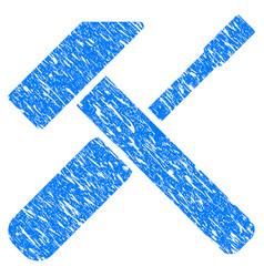 Hammer screwdriver grunge icon vector