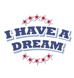 I have a dream logo symbol isolated vector