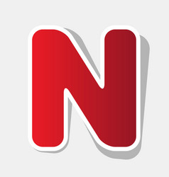 letter n sign design template element new vector image vector image