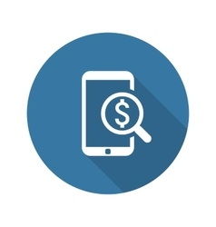 M-Commerce Icon Business Concept Flat Design vector image