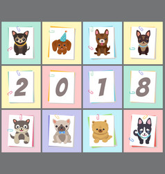new year 2018 symbol dog vector image