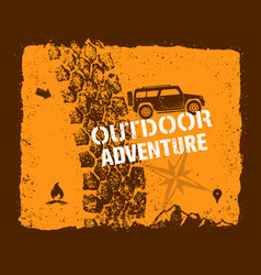 off road outdoor adventure vector image vector image