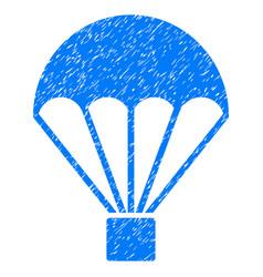 Parachute grunge icon vector