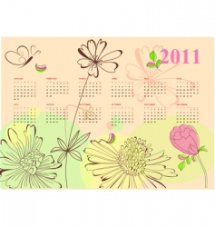 romantic calendar for 2011 vector image