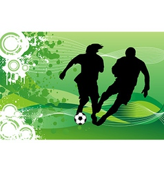 Soccer Players Running behind Ball vector image