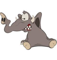 The elephant calf cartoon vector