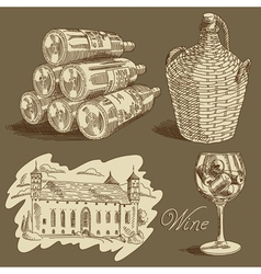 Wine background vector