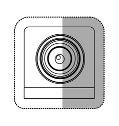 Monochrome contour sticker of security camera vector