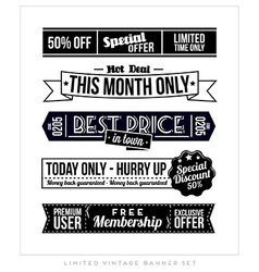 Retro vintage typographic business banner design vector