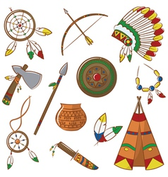 Native american elements vector