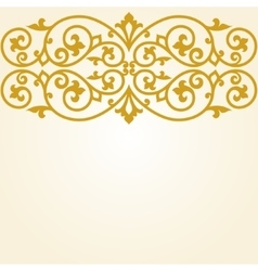 Russian traditional carving ornament vector