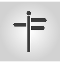 The signpost icon pointer symbol flat vector
