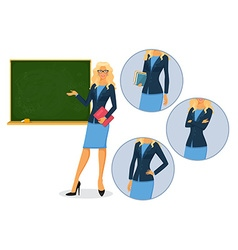 Female teacher with blackboard vector image
