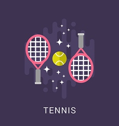 Sport concept tennis flat style vector