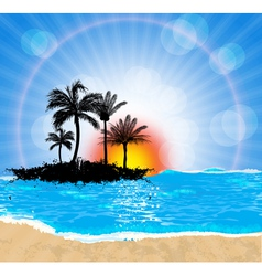 Beach and sun vector