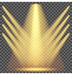 Set of yellow spotlights vector